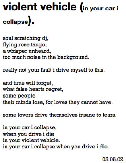 poetic ethnography::chants